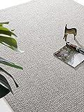 Qqkkabb Moderner, minimalistischer, minimalistischer Wollteppich im japanischen Stil, nordischer Reiner Farblicht-Luxus-Schlafzimmer-Vollbodenmattenanpassung 140 * 200 cm