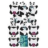 TOYANDONA Holz Stapeln Spielzeug Panda Holz Bauklötze Balancierspiel Stapel Bausteine Konzentrationsspiel Motorikspielzeug für Kinder Feinmotorik Ausbildung Pädagogisches Geschenk 1 Set
