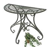 DanDiBo Tisch Halbrund Wandtisch Halbtisch 130434 Beistelltisch aus Metall 90 cm G
