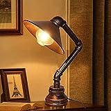 MAXK Antike Shisha Tischlampe, industrielle industrielle Anti-Rost-Tischlampe, Laterne Steampunk Metall Tischlampe, Schlafzimmer Nachttischlampe, Kinderzimmer Cafe Bar Lesung Lampe (Size : 1pack)