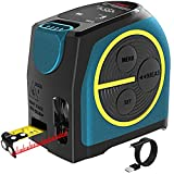 Massband Laser Entfernungsmesser, DTAPE Entfernungsmesser Digital,Maßband Laser Messgerät Entfernung mit LCD Hintergrundbeleuchtung