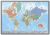 Erik Schreibtischunterlage/Schreibtischmatte Weltkarte