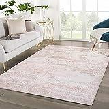 HPPSLT Teppich Vintage - Modern Teppiche für Wohnzimmer - Kurzes, pflegeleichtes, pflegeleichtes, pflegeleichtes Teppichboden des modernen Wohnzimmers rosa Familie-80 * 200