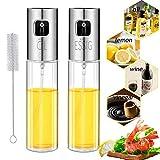 Nifogo Öl Sprayer - Olivenölsprüher, Glas Flasche Essig Spender Küche Werkzeug Zerstäuber für Kochen Öl Sprühflasche Salat BBQ Pasta (100ml)