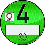 1 Haftfolie Euro 4 Plakette von Finest-Folia Umweltplakette Umweltzone Spassplakette (R020)