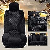 MMI-LX Autositzbezüge Winter warm Autos Sitze Abdeckung Faux Wolle for Lexus GS300 Nx Lx 570 RX330 Gs Rx RX350 LX470 GX470 CT200h (Color Name : Black Standard)