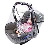 BAMBINIWELT Universal Komfort Regenschutz für Babyschale (z.B. Maxi-Cosi/Cybex/Römer), gute Luftzirkulation, verschließbare Eingriffsöffnung für Tragegriff, PVC-frei, Regenhaube, Regenschutz