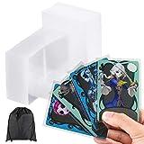 1200 Stücke Kartenhüllen Sanft Klar Spielkarten Hüllen Karten Schutzhüllen für Jungen Mädchen Baseball Karten, Sammelkarten, Visitenkarten, Sportkarten (2,55 x 3,55 Zoll)