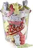 1100g Aseli Überraschungs- Mix   fruchtiger Schaumzuckermix   viele verschiedene Formen und Aromen   wiederverschließbarer 1kg Eimer   Marshmallows   Figuren handgefertigt   glutenfrei   lak