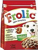Frolic Hundefutter Trockenfutter für kleine Hunde mit Rind, Karotten und Getreide, 6 Beutel (6 x 1kg)