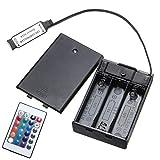 H/A Für RGB LED Lichtleiste DC 4,5 V Mini RF Controller Batteriebox, Band 24 Tasten Power Controller TOM-EU (Größe: eins)