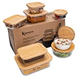 Kamoro Frischhaltedosen aus Glas - Mit nachhaltigem Bambus Deckel - BPA frei [8er Set] - Vorratsdosen für Lebensmittel Aufbewahrung - Dank vieler Größen auch als Meal Prep/Lunchbox ideal geeignet