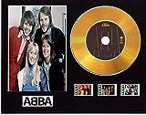 Abba CD-Display mit Vinyleffekt, Schwarz oder Gold, mit 3 Filmzellen (Goldscheibe, Abba gerahmt)