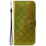 Blllue Schutzhülle für Samsung S20 Plus, bunt, einfarbig, PU-Leder, Schutzhülle für Galaxy S20 Plus 5G, goldfarben