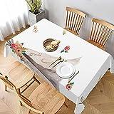 Shopcabin Dekorative Tischdecke, Tischwäsche, Tischtuch, Motiv: Florale Träume, Tipi, für Küche, Esszimmer