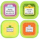 Abnehmbare niedliche Tieretiketten für Kindertagesstätten, Flaschenetiketten, Lebensmittelaufbewahrung, Etiketten