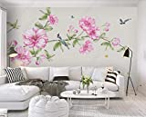 MENGRU Wallpaper Tapete 3D Fototapete Handgezeichnete Blumenvogel Aquarell Tapeten 3D Effekt Vliestapete Wohnzimmer Schlafzimmer Wandbilder Wanddeko 150cmX105cm