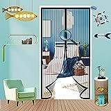 Fliegengitter Tür,Automatisches Schließen Magnetischer Fliegenvorhang Moskitonetz,Gasdurchlässig Und Transparent,für Balkontür W
