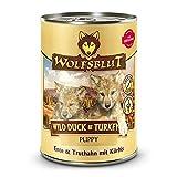 Wolfsblut | Wild Duck Puppy & Turkey| 6 x 395 g | Ente & Truthahn | Nassfutter | Hundefutter | Getreidefrei