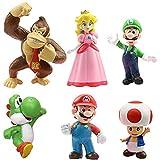 WENTS Super Mario Spielzeug Super Mario Brothers Mini Figuren Set Donkey Kong Toad Mario Luigi Yoshi Peach Mario Bros Actionfiguren Mario PVC Spielzeugfiguren