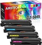 Amstech Kompatibel Tonerkartusche als Ersatz für Samsung CLT-P504C CLT-K504S CLT C504S M504S Y504S Samsung Xpress C1860FW C1810W CLX-4195FW CLX-4195FN CLX-4195N(Schwarz,Cyan,Gelb,Magenta, 4er-Pack)