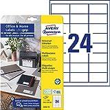 AVERY Zweckform 3658-10 Adressaufkleber (240 Klebeetiketten, 64,6x33,8 mm auf A4, bedruckbare Absenderetiketten, selbstklebende Adressetiketten mit ultragrip, ideal fürs HomeOffice) 10 Blatt, weiß