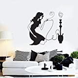 Wandaufkleber PVC Abnehmbare Wandtattoo Shisha Shisha Shisha Mädchen Home Schlafzimmer Wohnzimmer Wohnzimmer Dekoration 42X44cm