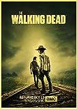linbindeshoop Vintage The Walking Dead Staffel 7 Retro Poster Retro Bar Cafe Wohnkultur Malerei Wandaufkleber (LW-3323) 40x60cm Kein Rahmen