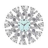 kerryshop Lautlos Wanduhr 3D Wanduhr Imitation Diamant Dekorative Uhr Durchmesser 70 cm Geeignet for Wohnzimmer Schlafzimmer Büro W