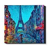 N\A Hängende Wanddekorationen Kunst Ölgemälde Paris Eiffelturm Leinwand Kunstdruck Leinwand Dekorative Malerei Geeignet für Wohnkultur