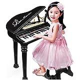 AAFF Piano Tasten Klaviertastatur Licht Kinder Keyboard &Mikrofon, Musikpartitur Elektronisch Musikinstrument Aufnahme Abspiel-Funktion, Kinder Spielzeug Grand Piano,A