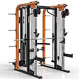 MegaTec® Smith Cable Rack mit Latzug - Multipresse - 125 kg Steckgewichte (Hantelscheibenaufnahme 50 mm)