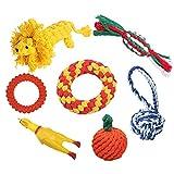 DUTISON Hundespielzeug, 7 Pcs Intelligenz Welpenspielzeug Set, Interaktives Baumwollknoten Spielsachen für Welpen oder Kleinere Hunde Geeignet -Aktualisierung