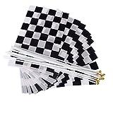 WINOMO 12 Stück Zielflagge Rennflagge Formel 1 Racing Banner