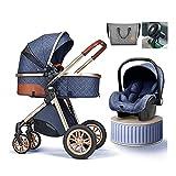 Tragbarer Kinderwagen Für Babys | Von 6 Monaten Bis 3 Jahren,Kinderwagenlüfter,Kinderwagen Buggy Jogger Kinderwagen, Cabrio-Wagenwagen, Kinderwagen Mit Fußabdeckung, Großer Stauraum ( Color : Blue )