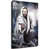 Kunstdruck auf Leinwand, Motiv Jesus Christus, die Hand Gottes, Gemälde, Poster, religiöse Kunstdruck, Heimdekoration für Wohnzimmer, Schlafzimmer, ohne Rahmen, 30 x 45 cm
