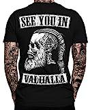 See You IN Valhalla T-Shirt | Thor | Vikings Tshirt | Ragnar | Valhalla Rising | Walhalla | Wodan | Wikinger | Valknut | Odin | Herren Männer T-Shirt