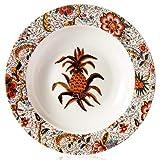 TFJJSQA Spezieller/einfacher Keramik-Teller, rustikales Ananas-Muster, Schüssel, Glasur für Zuhause, Geschenk, 26,7 cm (Farbe: Suppenteller, Größe: 21,6 cm)