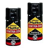 kh security Pfefferspray Contra-Dog Abwehrspray, 2-er Pack, 80 ml, 130102set2