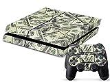 Gaminger Playstation 4 Designfolie Sticker Skin Set für Konsole + 2 Controller – Cash Money D