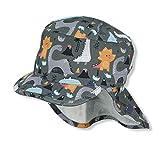Sterntaler Jungen Schirmmütze mit Nackenschutz, Alter: 4-6 Jahre, Größe: 55, Dunkelgrü