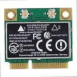 ASHATA WiFi Karte, SuperSpeed 2,4 GHz + 5 GHz Dualband PCI-E Wireless Bluetooth 4.0 WLAN Karte,Kabellos 802.11A/B/G/N 433 Mbit/s Mini PCI-e WLAN-Karte für Windows 7/10 Desktop Notebook PC usw.