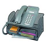 Safco Onyx Telefonständer aus Metallgitter - schwarz