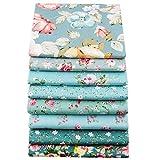 Patchworkstoff, 8 Stück, je 40 x 50 cm, hochwertige Baumwolle, Quilten, Patchwork, Kissen, Nähmaterial, Scrapbook, Puppenbekleidung