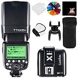 GODOX TT685F TTL 2.4G Wireless Blitz GN60 1/8000 HSS Blitzgerät Aufsteckblitz Speedlite mit X1T-F Trigger Auslöser für Fuj