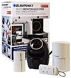 Blaupunkt Alarmanlage mit Kamera HOS 1800 Kit I Mini Alarmanlage mit Überwachungskamera 360° I WLAN & LAN I Bewegungsmelder, Tür/Fenstersensor, Fernbedienung I Steuerung über App
