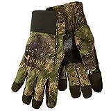 Härkila wasserdichter Jagdhandschuh Lynx mit HWS® - Membran in AXIS MSP® - Camouflage für Herren - Atmungsaktiver Handschuh für die Jagd mit Schießfinger, Größe:XL