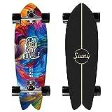 VOMI Skateboard 31 Zoll Komplette Cruiser Waveboard für Kinder Jugendliche Erwachsene, Mini Komplettboard Ahorn Double Kick Deck Concave mit All-in-One Skate T-Tool