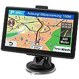 GPS Navi Navigationsgerät für Auto, Navigation für Auto PKW LKW Navi 7 Zoll Lebenslang Kostenloses Kartenupdate Navigationssystem mit POI Blitzerwarnung Sprachführung Fahrspur 2021 Europa UK 52 Karten