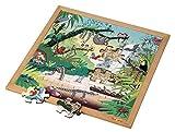Educo | Wortschatzpuzzle - Tropenwald (49) | Lehrmaterialien Lesen & Schreiben | Sprache - Wörter/WortschatzPuzzle - Spielen und lösen | Ab 48 Monate | Bis 72 Monate